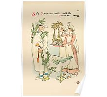 A flower wedding - Described by Two Wallflowers by Walter Crane 1905 46 - And Goosefoot with sage, the House Leek among Poster