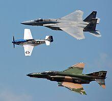 U.S.A.F. 60th Anniversary Heritage Flight 1947-2007 > by John Schneider