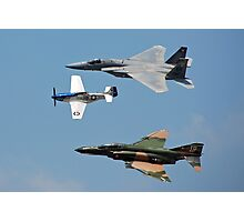 U.S.A.F. 60th Anniversary Heritage Flight 1947-2007 > Photographic Print