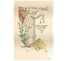 A flower wedding - Described by Two Wallflowers by Walter Crane 1905 79 - A post in the mint Poster
