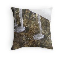 Icicle Puddles Throw Pillow
