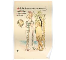 A flower wedding - Described by Two Wallflowers by Walter Crane 1905 51 - A New Penny-Royal, A fine Golden Feather Poster