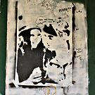Unusual Poster and Graffiti On Abandoned Home by Jane Neill-Hancock