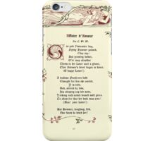 The Old Garden and Other Verses by Margaret Deland and Wade Campbell, Illustrated by Walter Crane 1894 77 - Affaire D'Amour iPhone Case/Skin