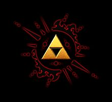 Zelda Triforce Gold by alifart