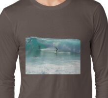 Surfing Burleigh Style #3  Long Sleeve T-Shirt