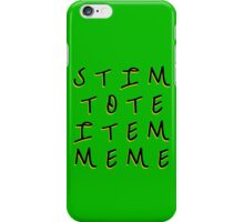 Stim Tote Item Meme  3 iPhone Case/Skin