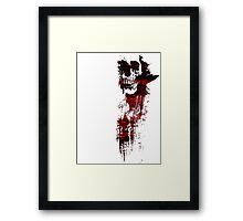 GRUNGY PAINT SKULL - red and black Framed Print