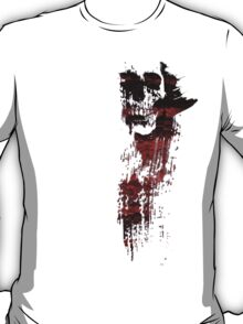 GRUNGY PAINT SKULL - red and black T-Shirt