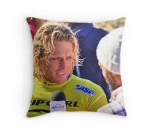 Adam Robertson makes final of 2009 Rip Curl Pro Throw Pillow