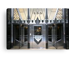 Art Deco Door, Chrysler Building, New York Canvas Print