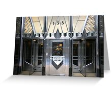 Art Deco Door, Chrysler Building, New York Greeting Card
