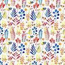 watercolor floral pattern by Tanor