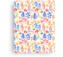 watercolor floral pattern Canvas Print