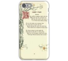 The Old Garden and Other Verses by Margaret Deland and Wade Campbell, Illustrated by Walter Crane 1894 208 - Easter Music iPhone Case/Skin