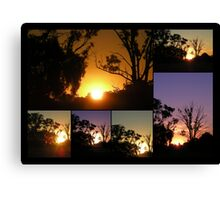 Marong Sunset Collage Canvas Print