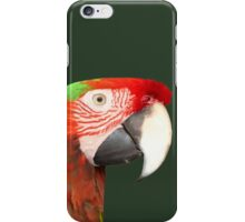 A Beautiful Bird Harlequin Macaw Portrait Background Removed iPhone Case/Skin