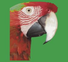 A Beautiful Bird Harlequin Macaw Portrait Background Removed One Piece - Short Sleeve