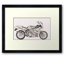 Yamaha FZR600 Framed Print