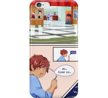 Delphinium - Don't Drink The Tea / Comic page iPhone Case/Skin
