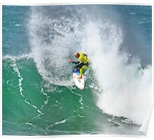 Mick Fanning in 2009 Rip Curl Pro, Bells Beach (3) Poster