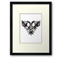 DOUBLE -HEADED WINGED BEHEMOTH - nergal metal god Framed Print