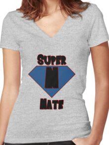 Super Nate! Women's Fitted V-Neck T-Shirt