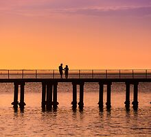 Dromana Pier - couple by Monica Cooke