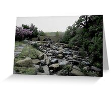 The Arched Bridge from Downstream, Wales Greeting Card
