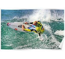 Mick Fanning in 2009 Rip Curl Pro, Bells Beach (5) Poster