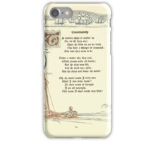 The Old Garden and Other Verses by Margaret Deland and Wade Campbell, Illustrated by Walter Crane 1894 152 - Uncertainty iPhone Case/Skin