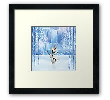 Happy Olaf - Frozen Framed Print