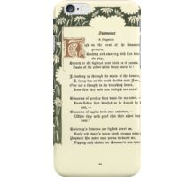 The Old Garden and Other Verses by Margaret Deland and Wade Campbell, Illustrated by Walter Crane 1894 116 - Summer iPhone Case/Skin