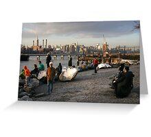 On Location, Brooklyn, New York, Like a Movie Set Greeting Card