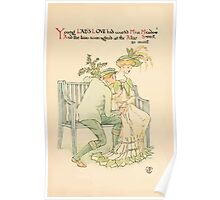 A flower wedding - Described by Two Wallflowers by Walter Crane 1905 11 - Young Lad's Love had courted Miss Meadow Poster