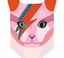 David Bowie Cat by femmedoe