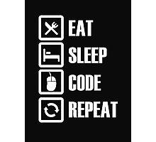 Eat Sleep Code Repeat - Tshirts & Hoodies Photographic Print