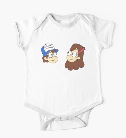 Dipper and Mabel Gravity Falls 'Mystery Twins' One Piece - Short Sleeve