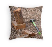 Splitting wood Throw Pillow