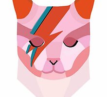 David Bowie as a Cat by femmedoe