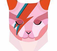 David Bowie as a Cat by femmedoe