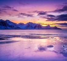 Haukland Sunset by John Dekker