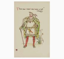 A flower wedding - Described by Two Wallflowers by Walter Crane 1905 27 - The was Good King Herny and tall Jonquil Baby Tee