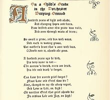 The Old Garden and Other Verses by Margaret Deland and Wade Campbell, Illustrated by Walter Crane 1894 205 - On a Child's Grave in the Dorchester Burying Ground by wetdryvac