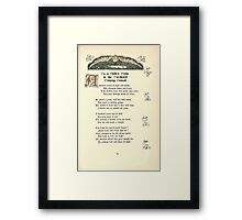 The Old Garden and Other Verses by Margaret Deland and Wade Campbell, Illustrated by Walter Crane 1894 205 - On a Child's Grave in the Dorchester Burying Ground Framed Print