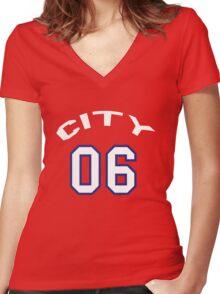 Brechin Basketball Women's Fitted V-Neck T-Shirt