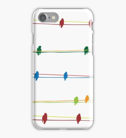 Birds on wire iPhone Case/Skin