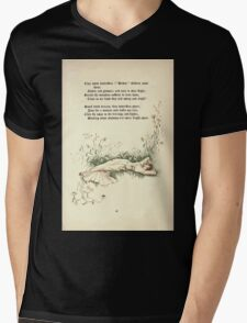 The Old Garden and Other Verses by Margaret Deland and Wade Campbell, Illustrated by Walter Crane 1894 117 - Tiny White Butterflies Mens V-Neck T-Shirt
