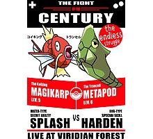 Magikarp vs Metapod Photographic Print