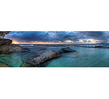 Sunrise Sunrays - Nth Curl Curl Tidal Pool Photographic Print